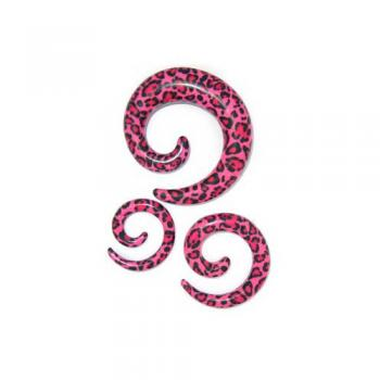 Acrylic Spiral Pink Leopard