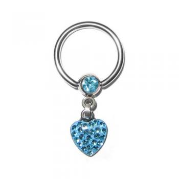 Krystal Heart Ball Closure Ring