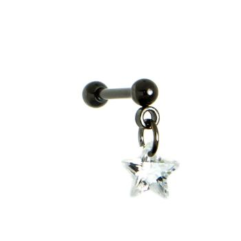 Steel Black Hanging Crystal Star