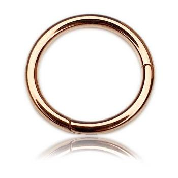 Rose Gold Steel Segment Ring Clicker