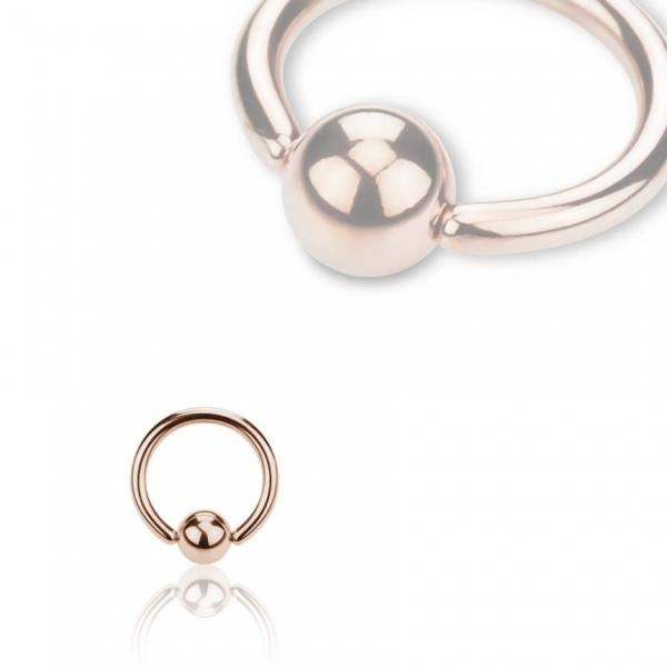 Rose Gold Steel Klemmkugelring