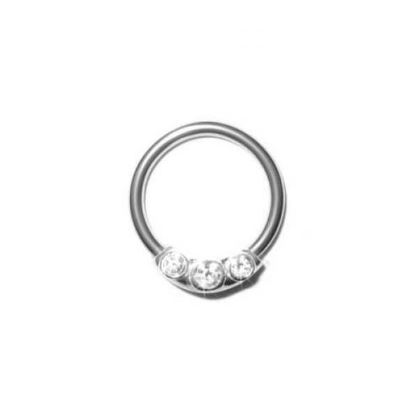 Silver Jewels Ball Closure Ring